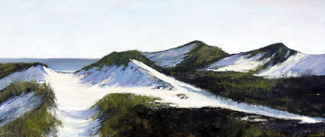 EMILY BUCHANAN  Dune Path   Oil on panel 18 x 42 inches (45.7 x 106.5 cm) $10,000 Click here for more information