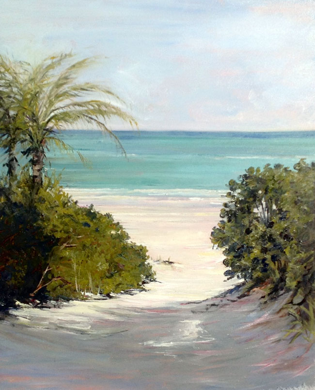 EMILY BUCHANAN  Harbour Island, Bahamas   Oil on panel 20 x 16 inches (50.8 x 40.6 cm) $5,000 Click here for more information