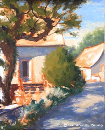 Southern France painting by Jennifer E Young