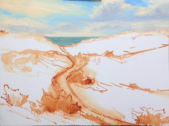 Outer Banks coastal landscape painting Jennifer Young