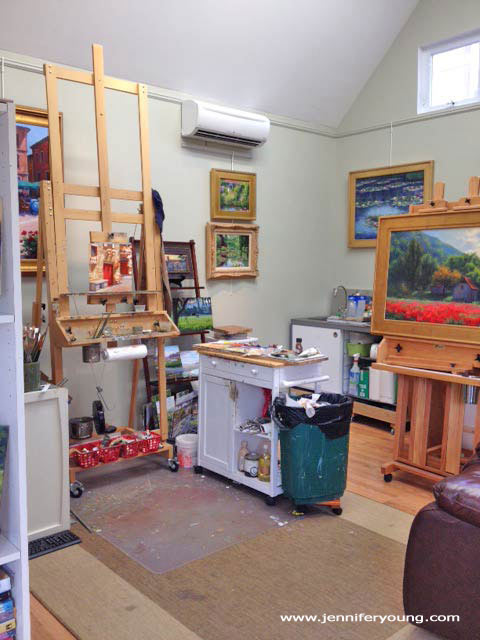 art studio of Jennifer E. Young