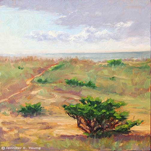Plein air painting Hatteras Island NC by Jennifer E Young