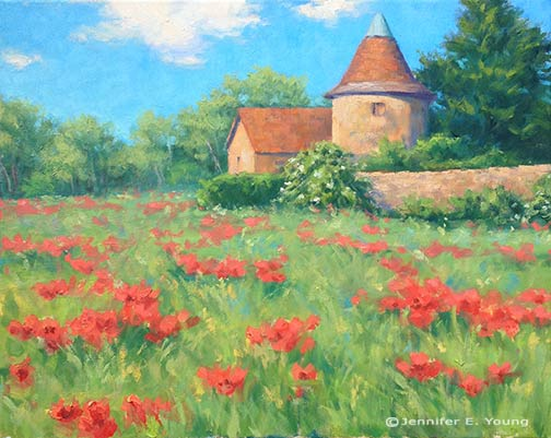 landscape painting south of France by Jennifer E Young