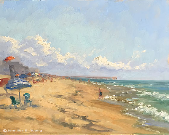 Plein air study of the OBX coastline by Jennifer E Young