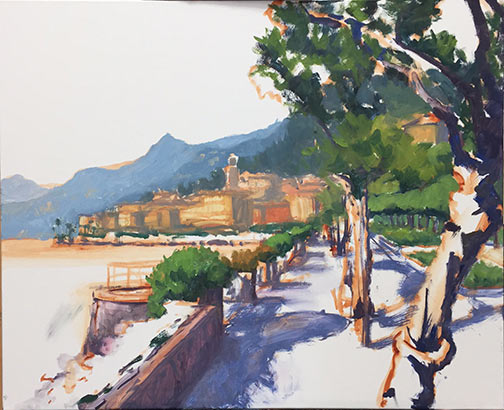 Lake Como painting demo by Jennifer Young
