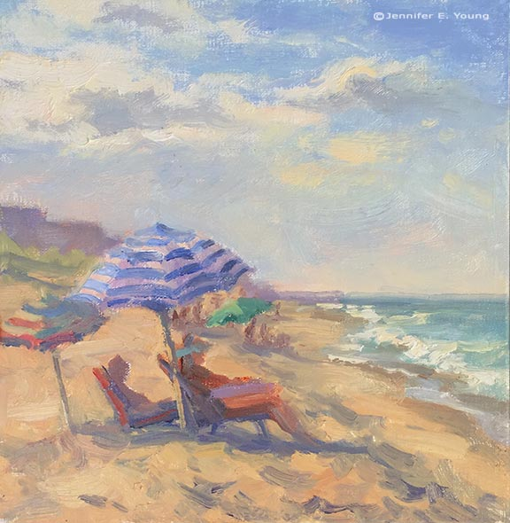 Outer Banks plein air painting ©Jennifer E Young, All rights reserved