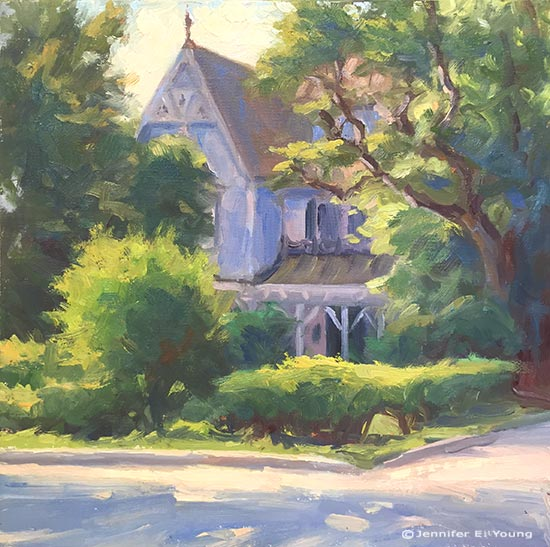 plein air painting Ashland, VA ©Jennifer E Young