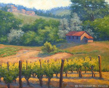 """La Vigna Privata""  Oil on Linen, 24x30"" (SOLD) ©Jennifer Young"
