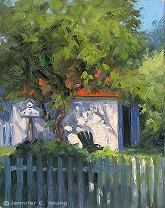 """A Spot of Shade"" Oil on Panel, 10x8"" ©Jennifer Young"