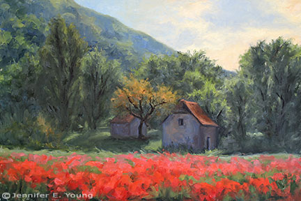 """The Gift of Spring"" Oil on Linen, 24x36"" (SOLD) ©Jennifer Young"