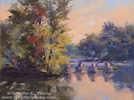 """The Golden Hour"" Oil on Multimedia ArtBoard, 9x12"" ©Jennifer Young"