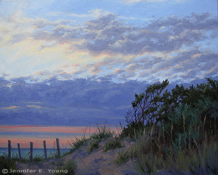 """Twilight on the Outer Banks"" Oil on Canvas 24x30"" ©Jennifer Young"