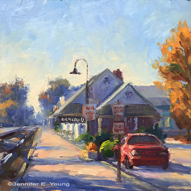 """Autumn in Ashland,"" Oil on panel, 6x6"""