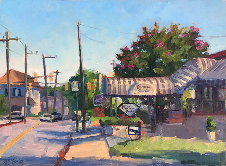 """Morning Light on Carreras"", Oil on linen, 12x16"""