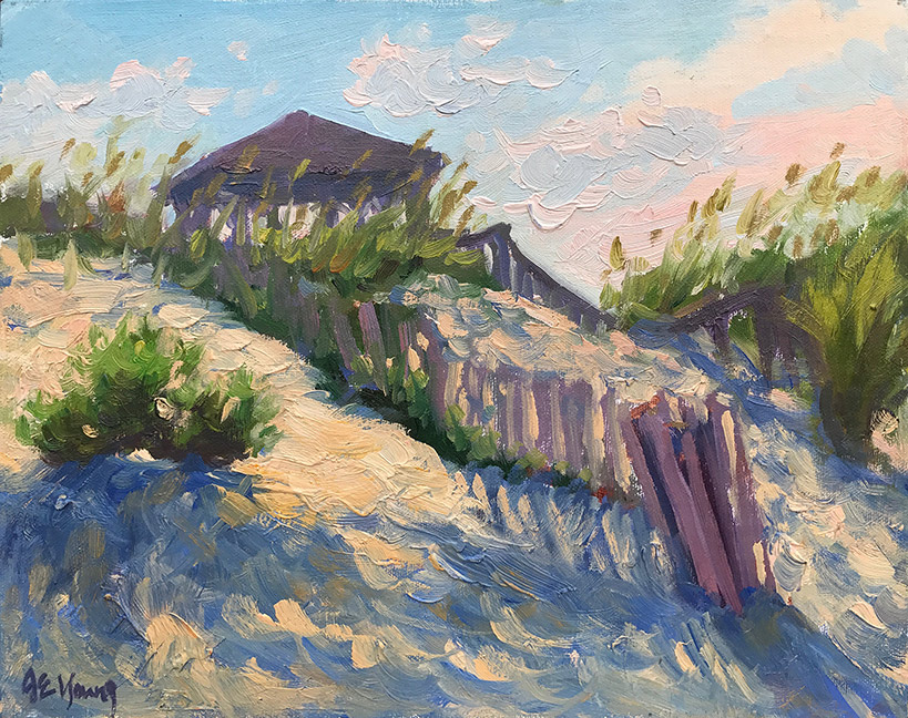 """Dune Shadows"" Oil on linen, 8x10"". Click here to bid!"