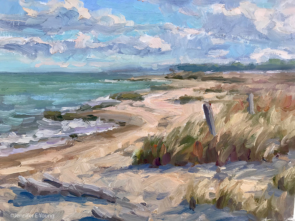"""Afternoon at Hughlett Point"", oil on linen, 11x14"""