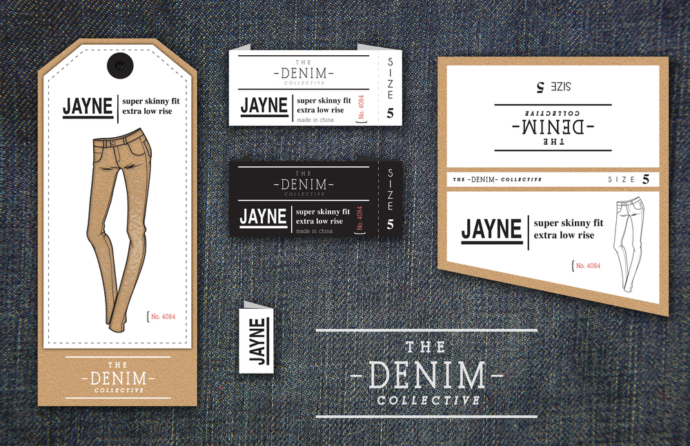 Commissioned to create marketing and branding for young women's denim line, showcasing company's different denim styles. Look had to be classic and sleek, but still fresh.