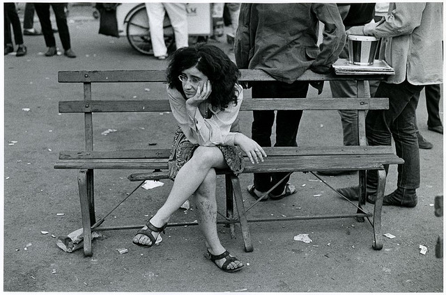 """Tompkins Sq. Pk."" from George Eastman House  Flickr  - Photo by James Jowers, 1967. No known copyright restriction."