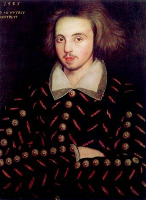 Happy Birthday, poet-dramatist, Christopher Marlowe. Baptized Feb, 26, 1564 Canterbury-Died May 30, 1593.