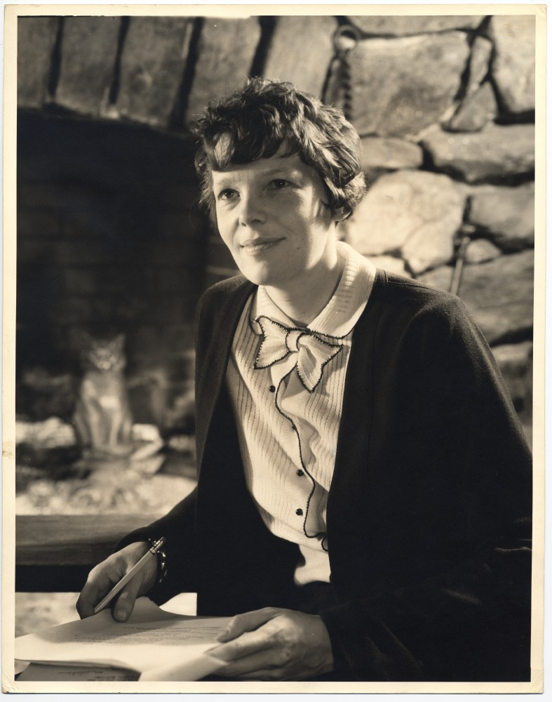 Amelia Earhart circa 1935. Photo by Victor Keppler, gelatin silver print. George Eastman House Collection.