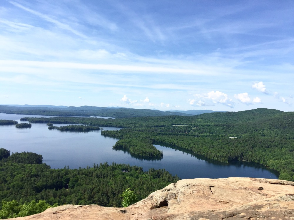 the view from Rattlesnake Mountain, overlooking Squam lake