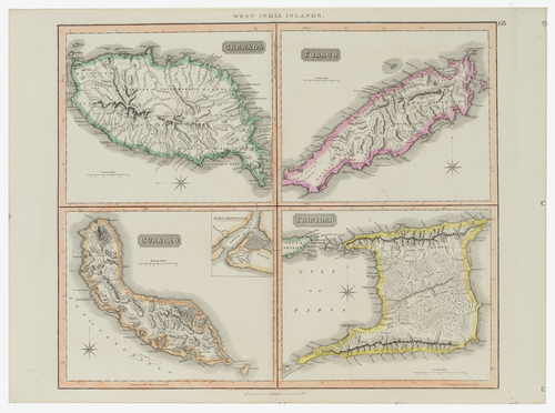 John Thomson West Indian Islands Map Ca 1820