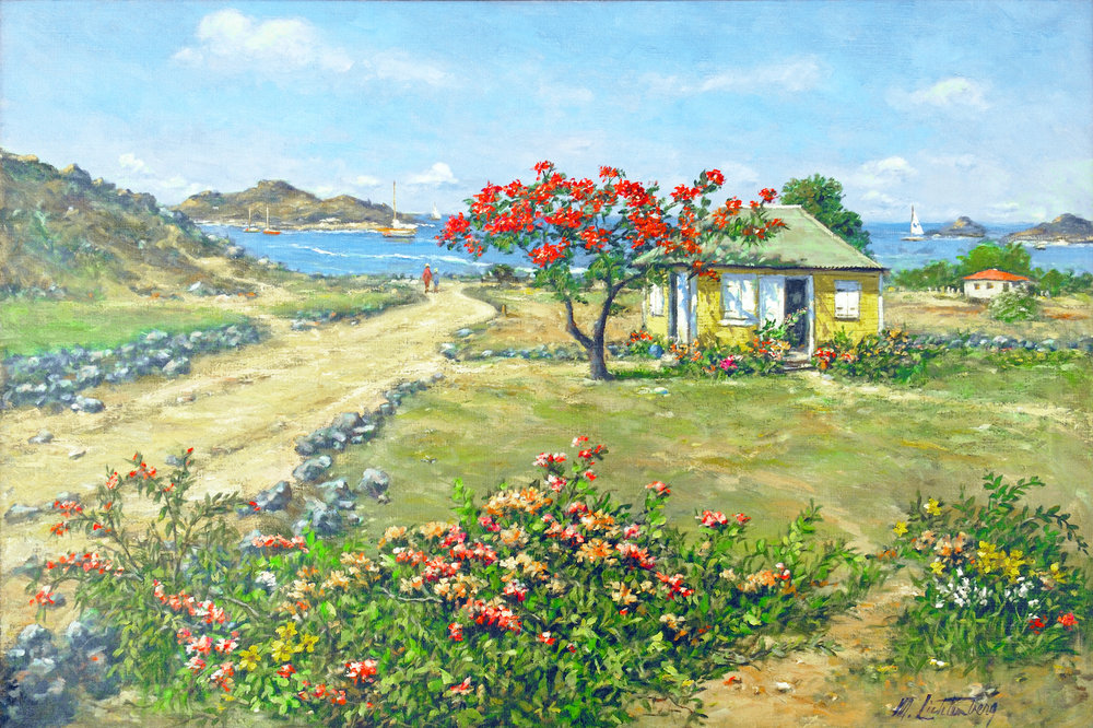 Manes Litchenberg Cottage in St Barths Unframed resized.jpg