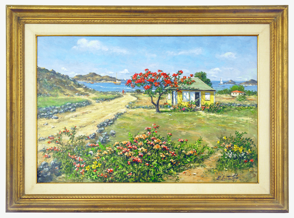 Manes Litchenberg Cottage in St Barths Framed resized.jpg