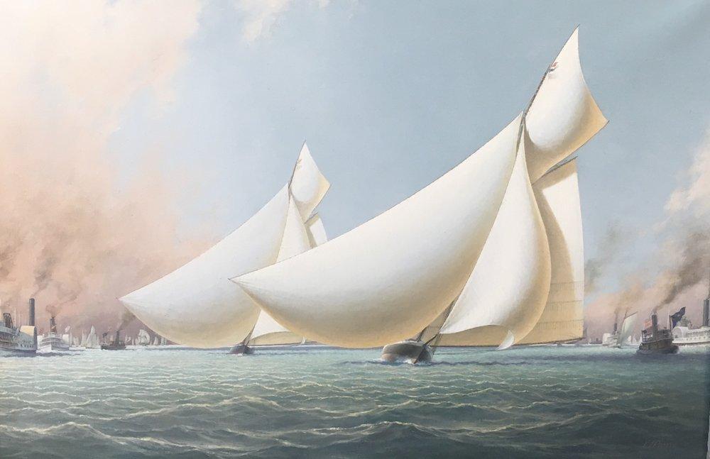 The Run Down The Wind Puritan Leads in The America's Cup Race,  1885 .JPG