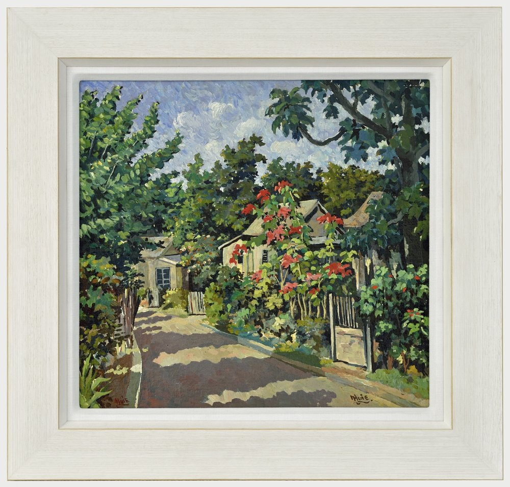 Albert Huei: Retreat, Jamaica - Framed