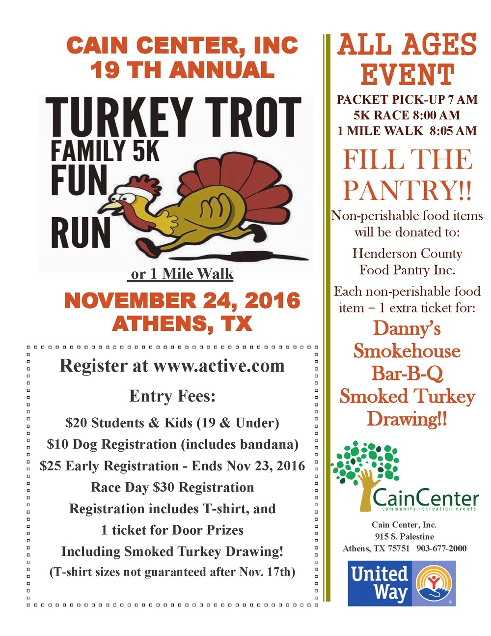 Cain Center Turkey Trot