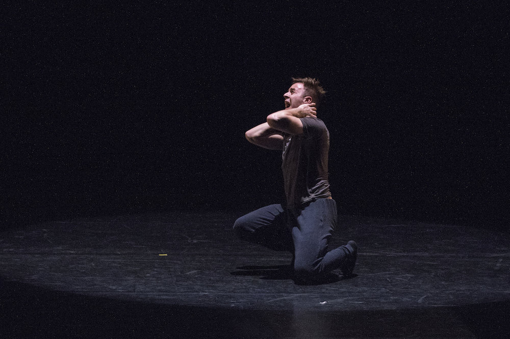University of Oregon dance student in Darion Smith's Game Change at ACDA Conference. Photo by Pam Cressall
