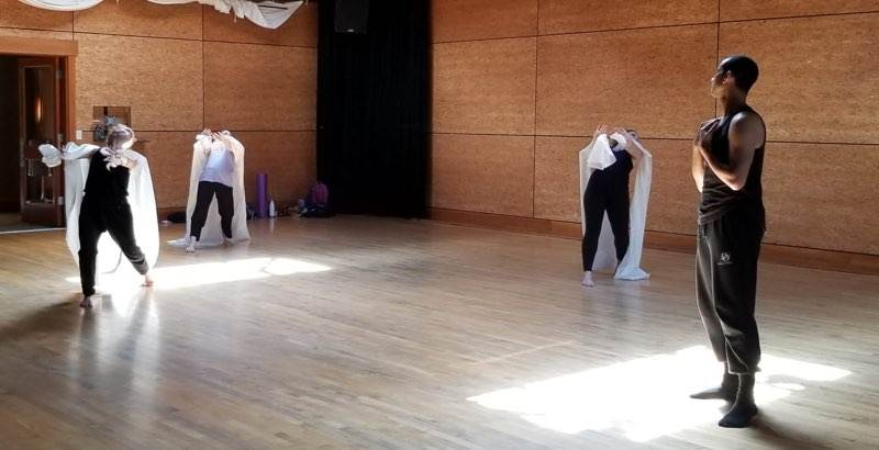 Darion Smith in rehearsal, Bellingham Repertory Dance Company