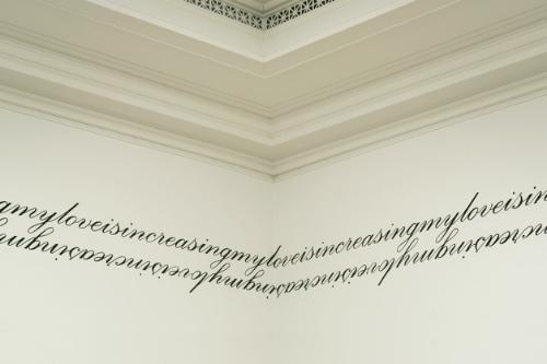 increase    (detail) 2005 enamel paint on walls, dimensions vary