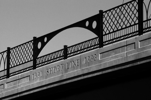 Bridge deck  central arch and railing