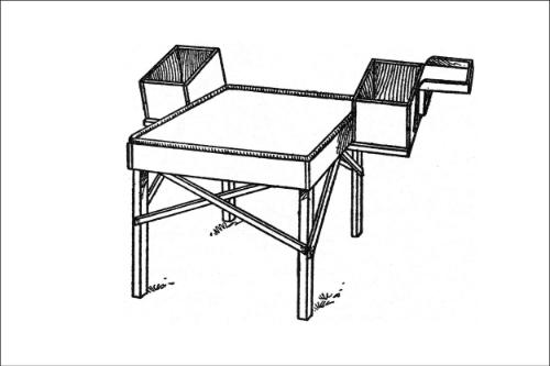 Oregon sorting table  (source book illustration)