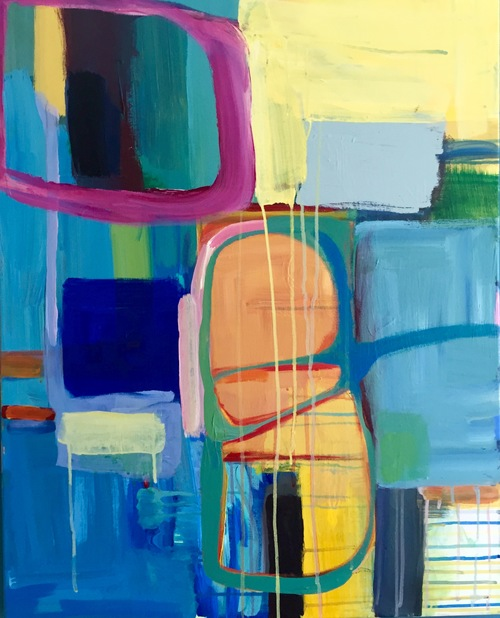 Janine Evers,  it must have been implied , acrylic on canvas, 24 x 16 in.