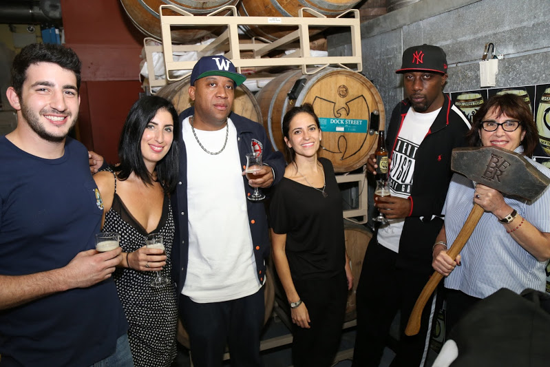 Assistant Brewer Sasha Certo-Ware, Web Editor + Writer Renata Certo-Ware, Wood Johnson, Vice President Marilyn Candeloro, Inspectah Deck, President and Owner Rosemarie Certo. Photograph by Stephen Lyford.