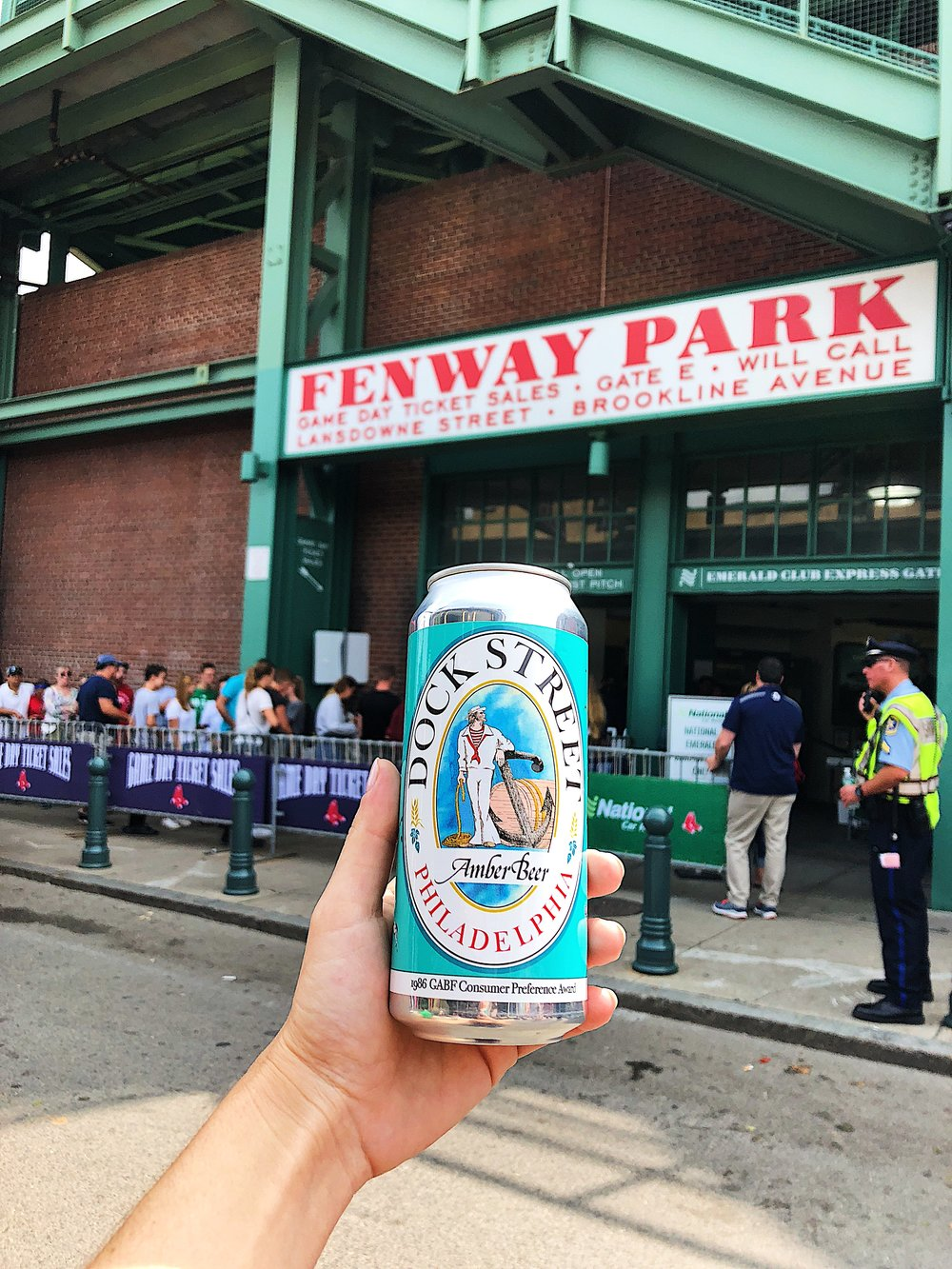 Snuck some Amber Ale into Fenway Park for the Red Sox game the DTR crew took us to!