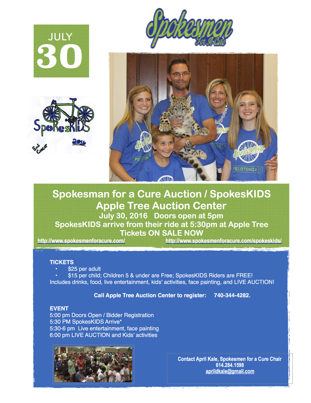 Spokesmen For A Cure — Apple Tree Auction Center
