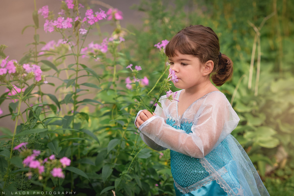 Elsa dress-up mini photo session by N. Lalor Photography in Fairfield County, Connecticut.