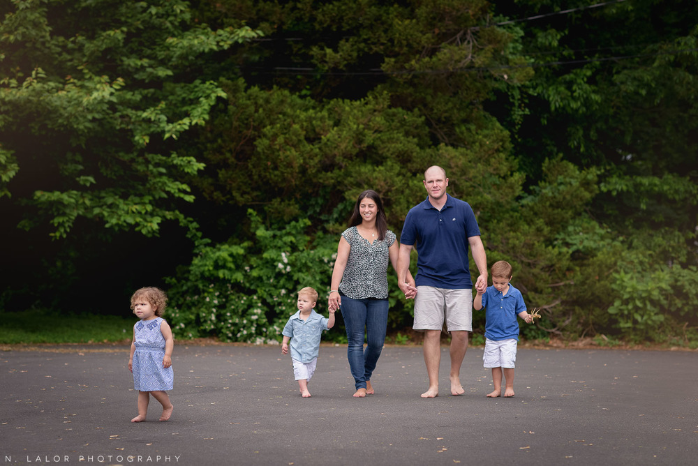 Styled family-life photo session in Fairfield Connecticut by N. Lalor Photography.