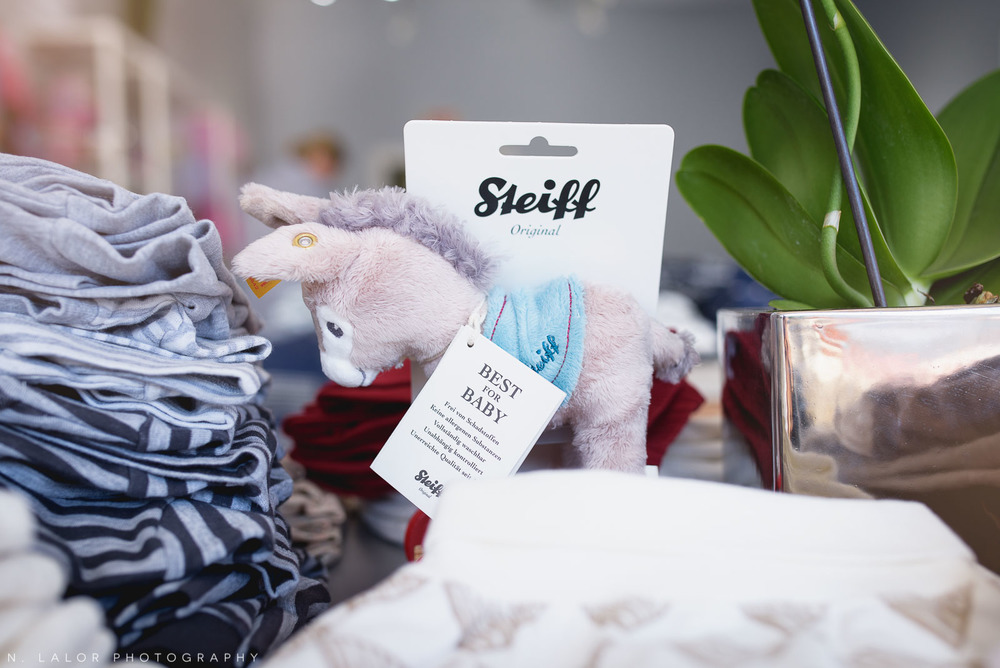 Adorable baby toy by Steiff at Ella & Henry in New Canaan. Photo by N. Lalor Photography.