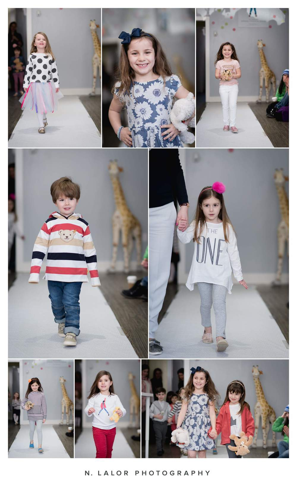 Kids Spring Fashion Show at Ella & Henry in New Canaan Connecticut. Photo by N. Lalor Photography.