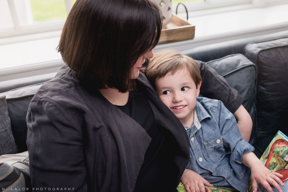 Mother with her son. Lifestyle family session by N. Lalor Photography.