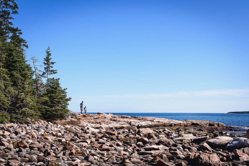 Enjoying Acadia National Park in Bar Harbor Maine. Photo by N Lalor Photography.