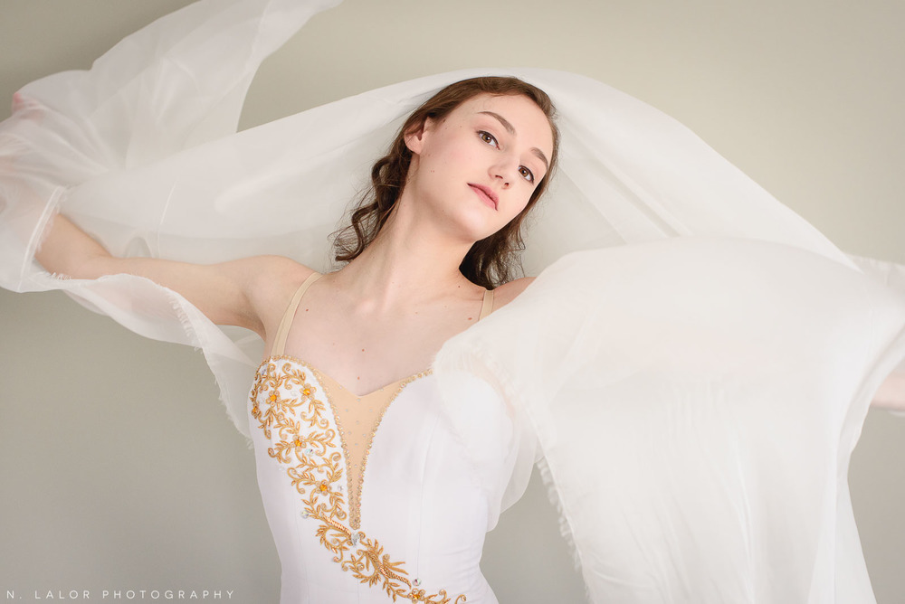 Ballet dancer portrait by N. Lalor Photography in Greenwich, Connecticut.