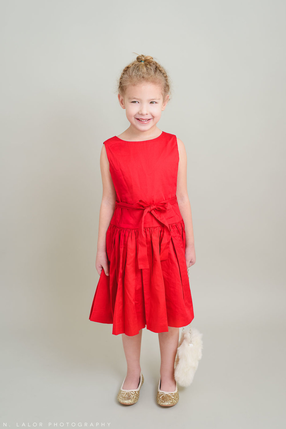 All dressed up for the Holidays. Greenwich CT Kids Photo Studio Portraits by N. Lalor Photography