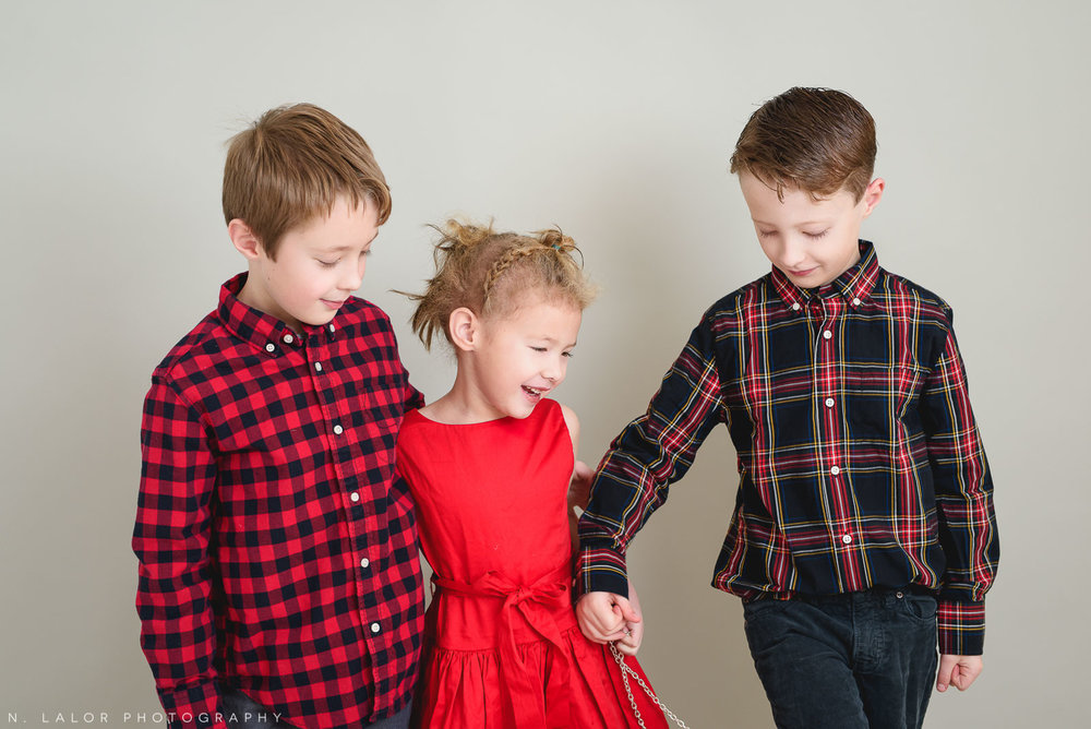 Take my hand. Greenwich CT Kids Photo Studio Portraits by N. Lalor Photography