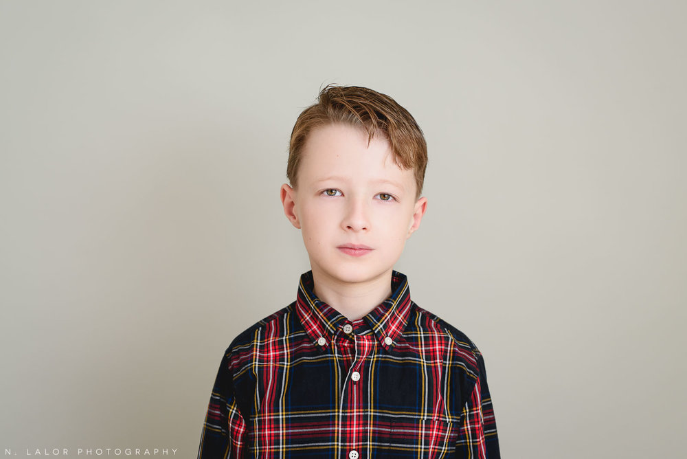 Big brother. Greenwich CT Kids Photo Studio Portraits by N. Lalor Photography